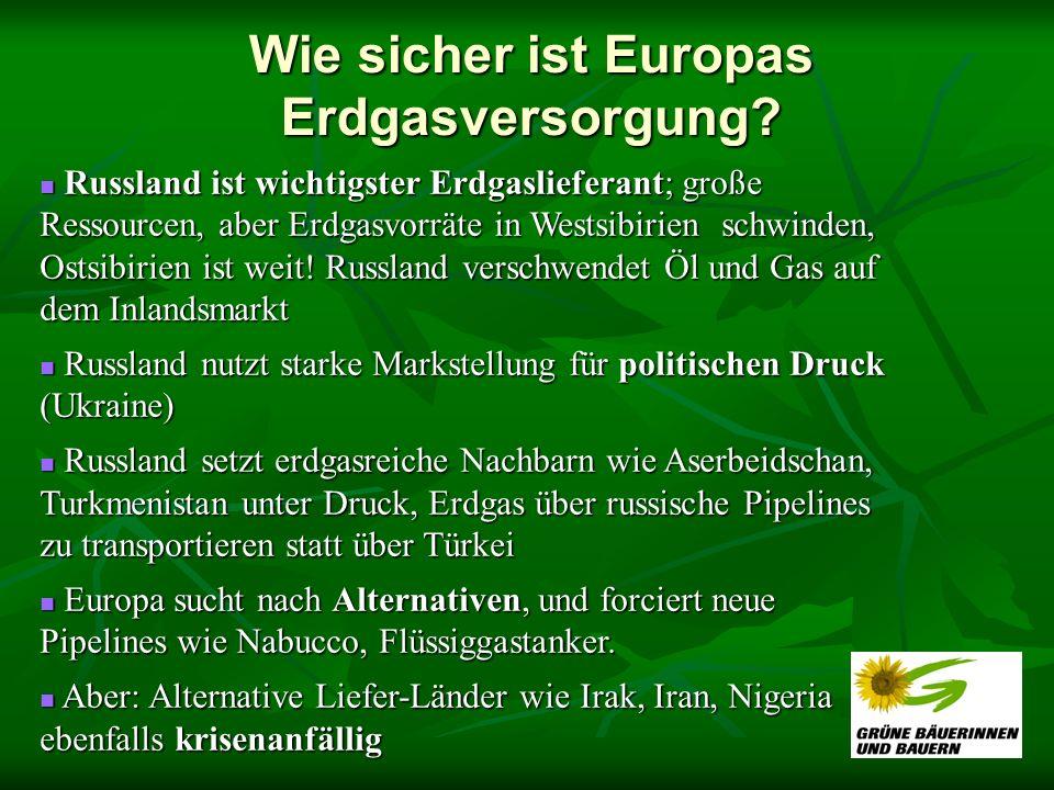 Wie sicher ist Europas Erdgasversorgung