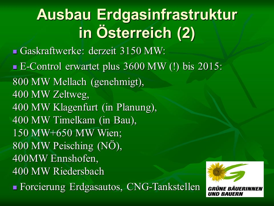 Ausbau Erdgasinfrastruktur in Österreich (2)