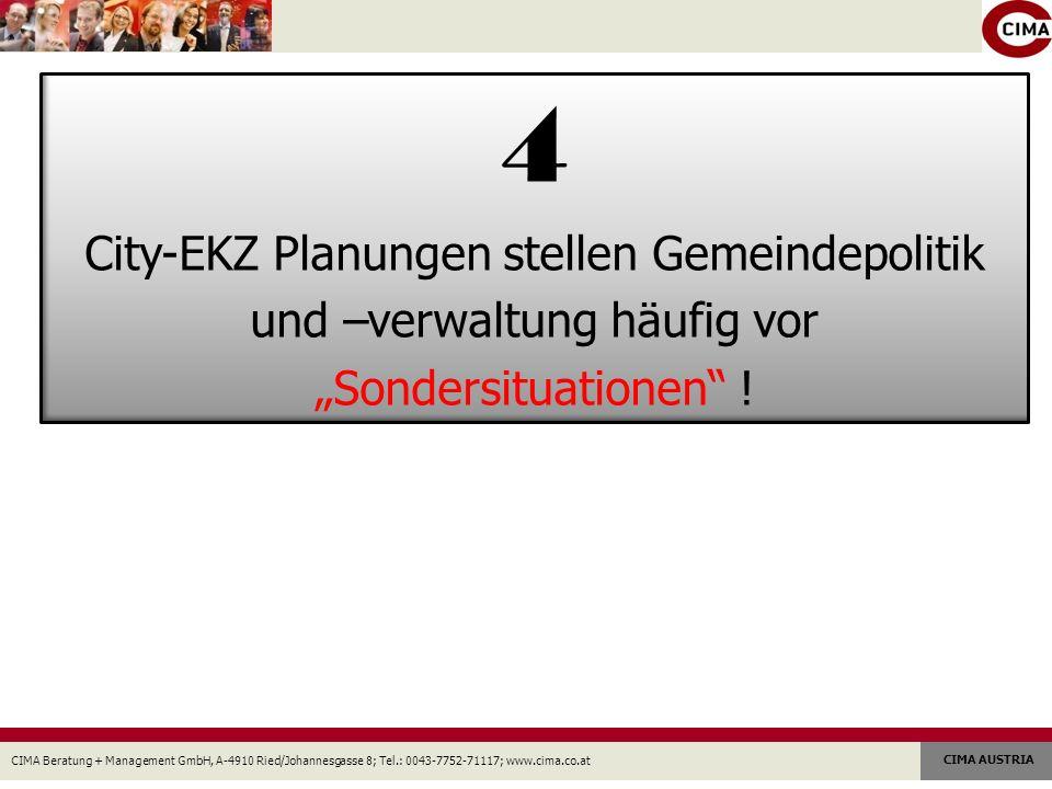4 City-EKZ Planungen stellen Gemeindepolitik