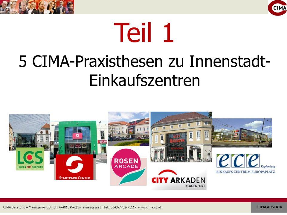 5 CIMA-Praxisthesen zu Innenstadt-Einkaufszentren