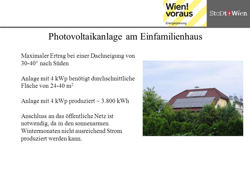 Photovoltaikanlage am Einfamilienhaus