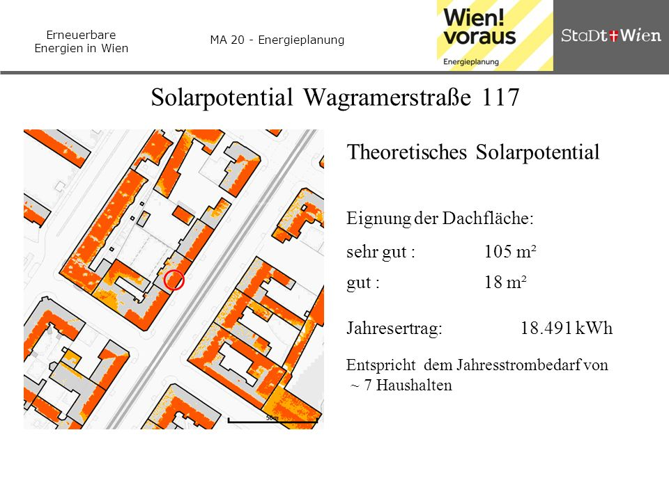 Solarpotential Wagramerstraße 117
