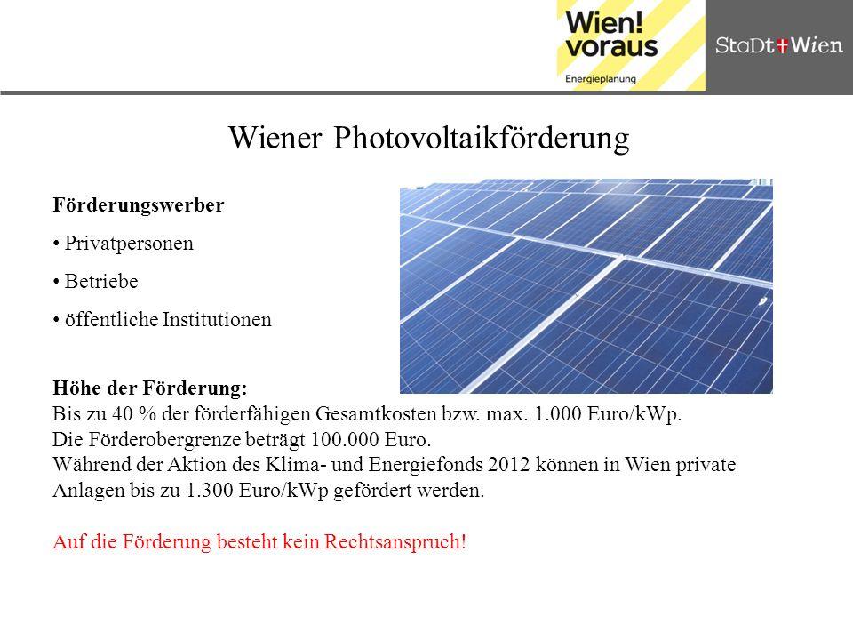 Wiener Photovoltaikförderung