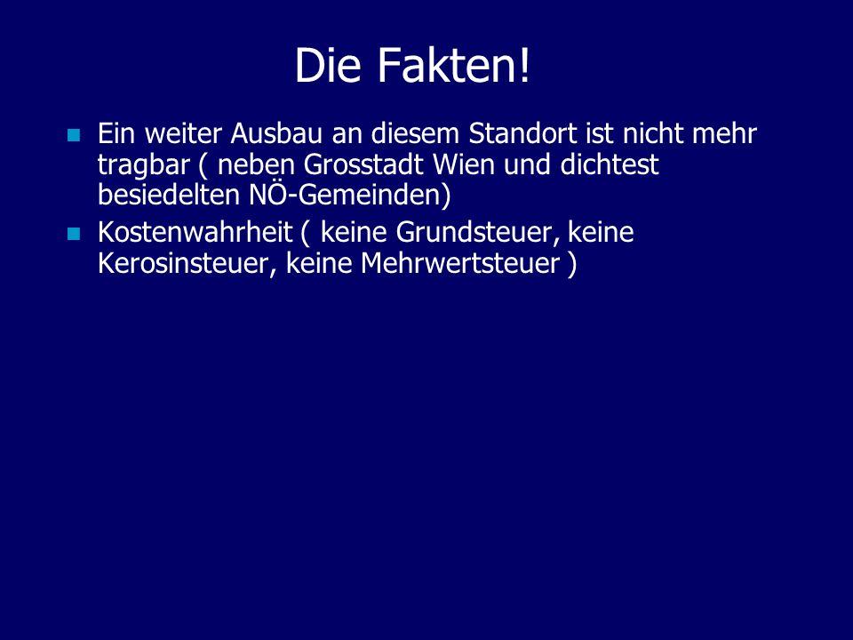 Die Fakten! Ein weiter Ausbau an diesem Standort ist nicht mehr tragbar ( neben Grosstadt Wien und dichtest besiedelten NÖ-Gemeinden)