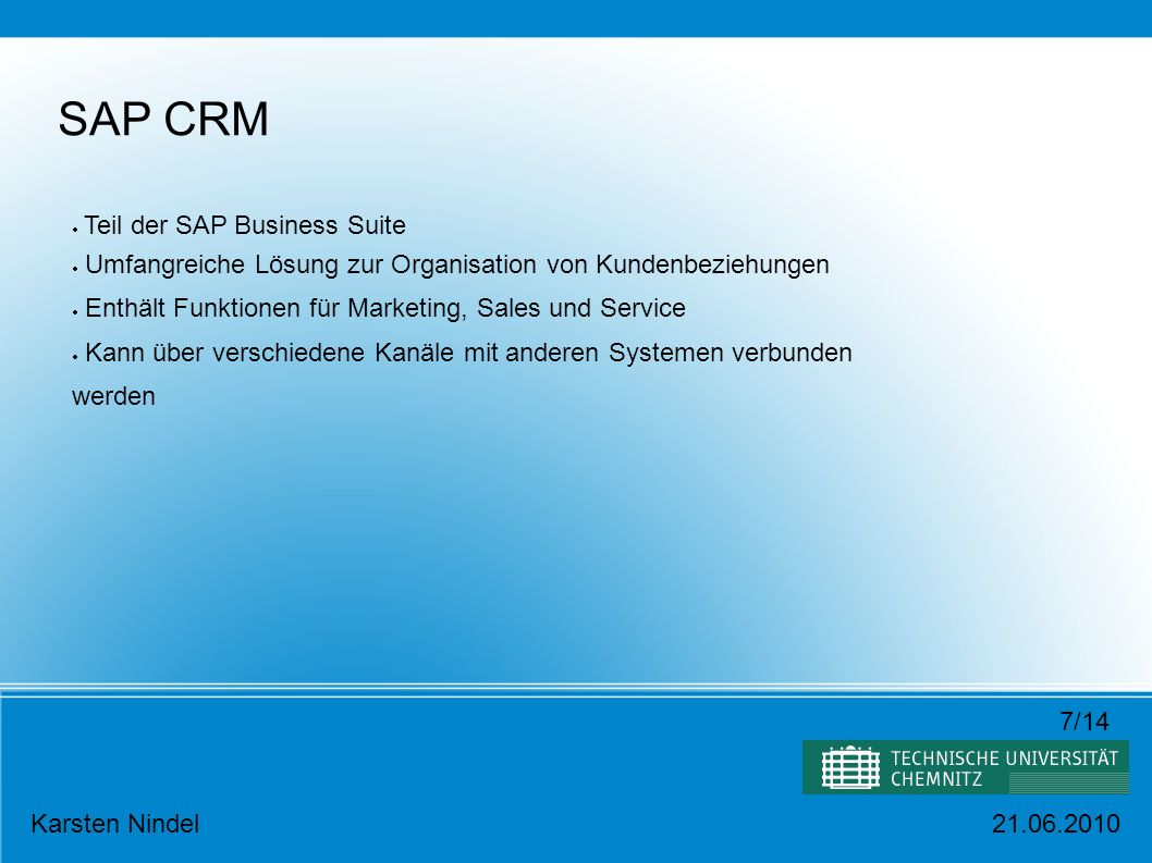SAP CRM Teil der SAP Business Suite