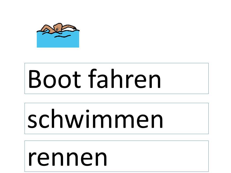 Boot fahren schwimmen rennen