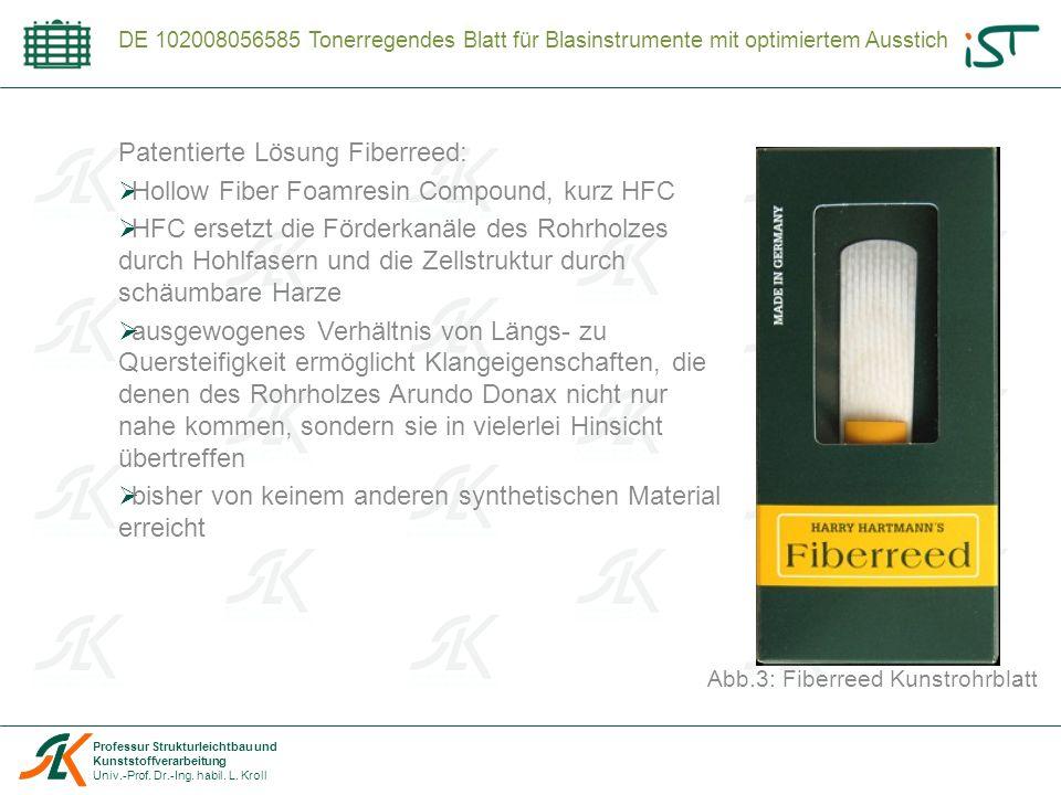 Abb.3: Fiberreed Kunstrohrblatt