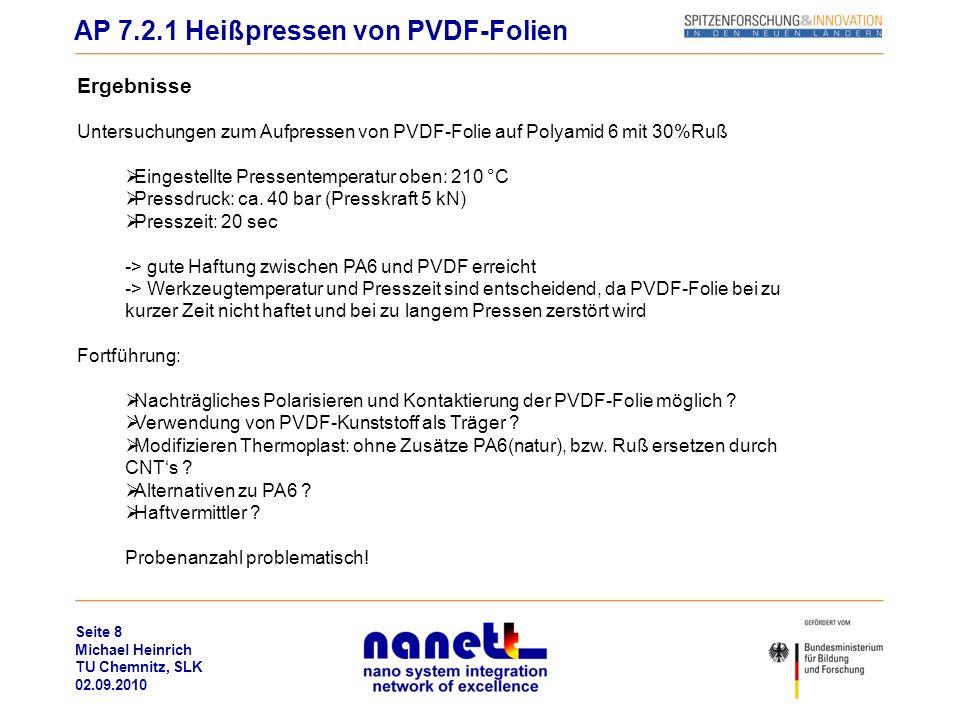 AP 7.2.1 Heißpressen von PVDF-Folien