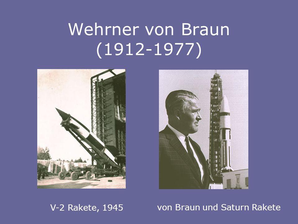 Wehrner von Braun (1912-1977) von Braun und Saturn Rakete