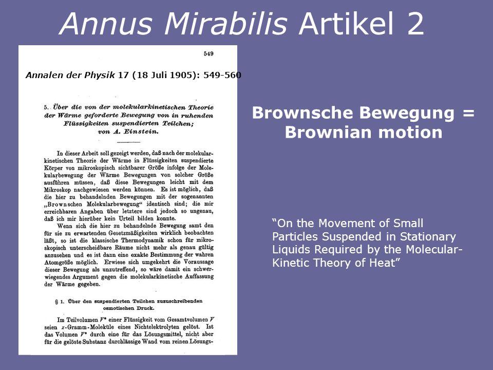 Annus Mirabilis Artikel 2