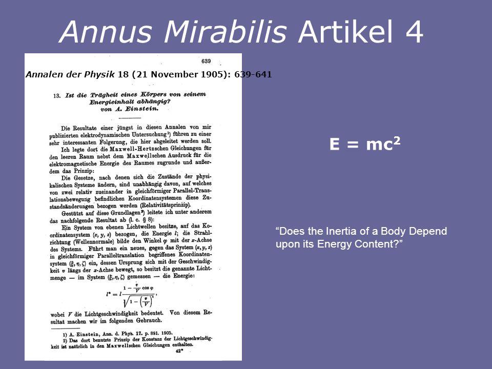 Annus Mirabilis Artikel 4