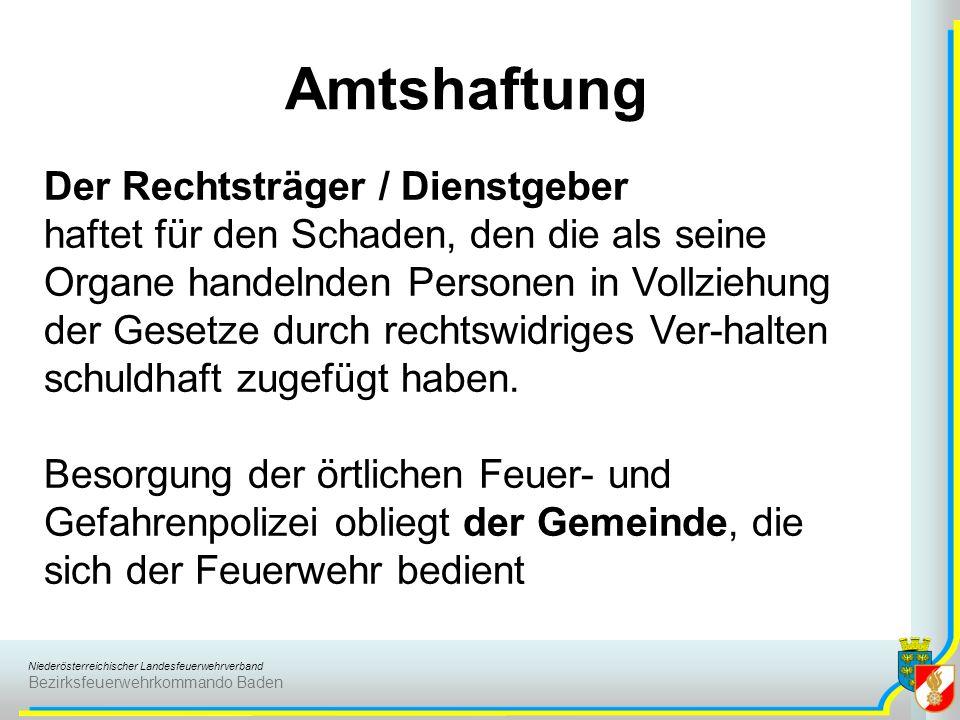 Amtshaftung Der Rechtsträger / Dienstgeber