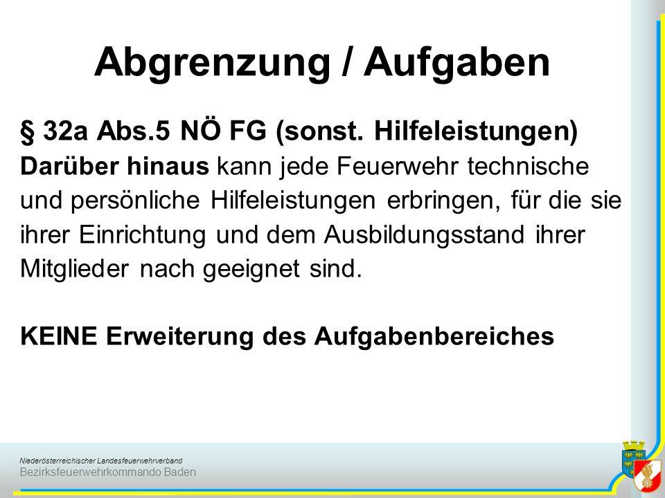 Abgrenzung / Aufgaben § 32a Abs.5 NÖ FG (sonst. Hilfeleistungen)