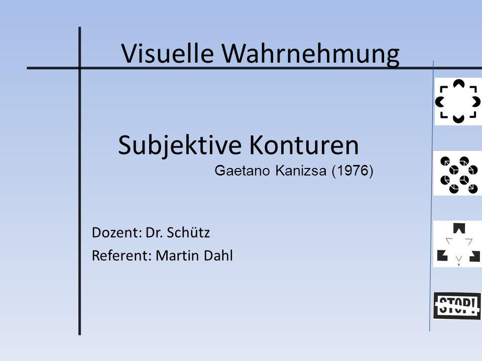 Dozent: Dr. Schütz Referent: Martin Dahl