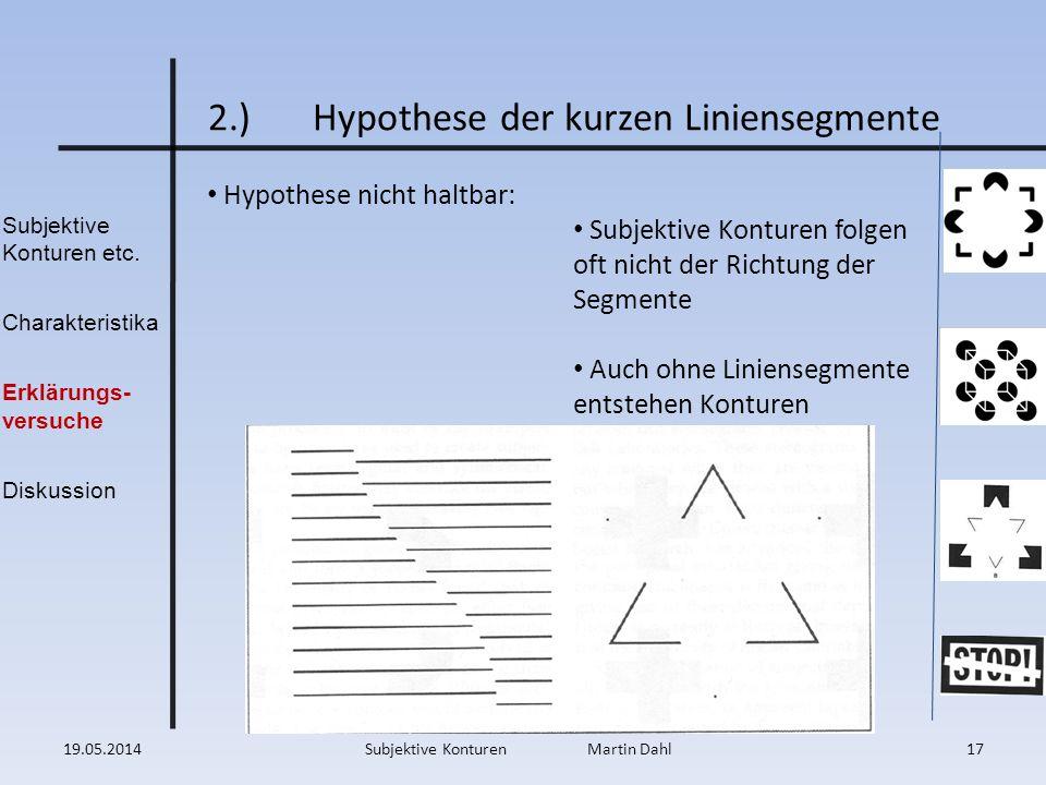 2.) Hypothese der kurzen Liniensegmente