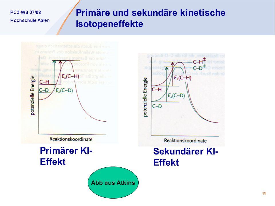 Primäre und sekundäre kinetische Isotopeneffekte