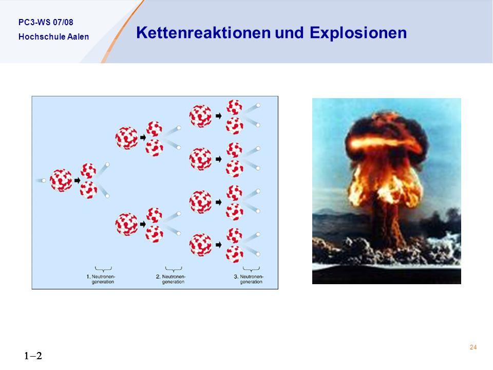 Kettenreaktionen und Explosionen