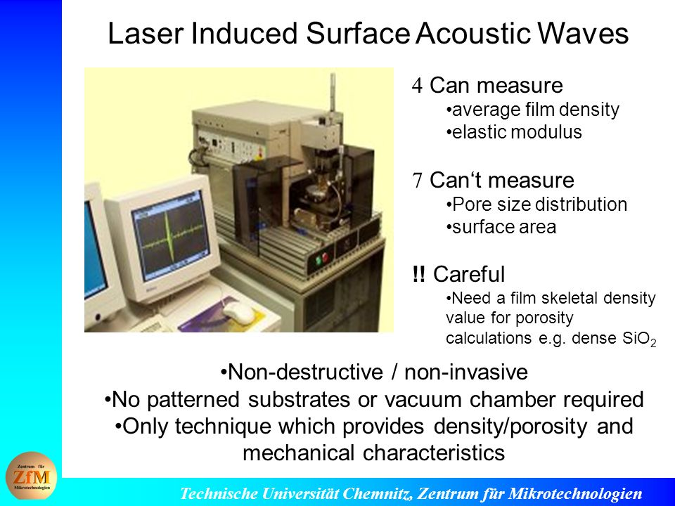 Laser Induced Surface Acoustic Waves