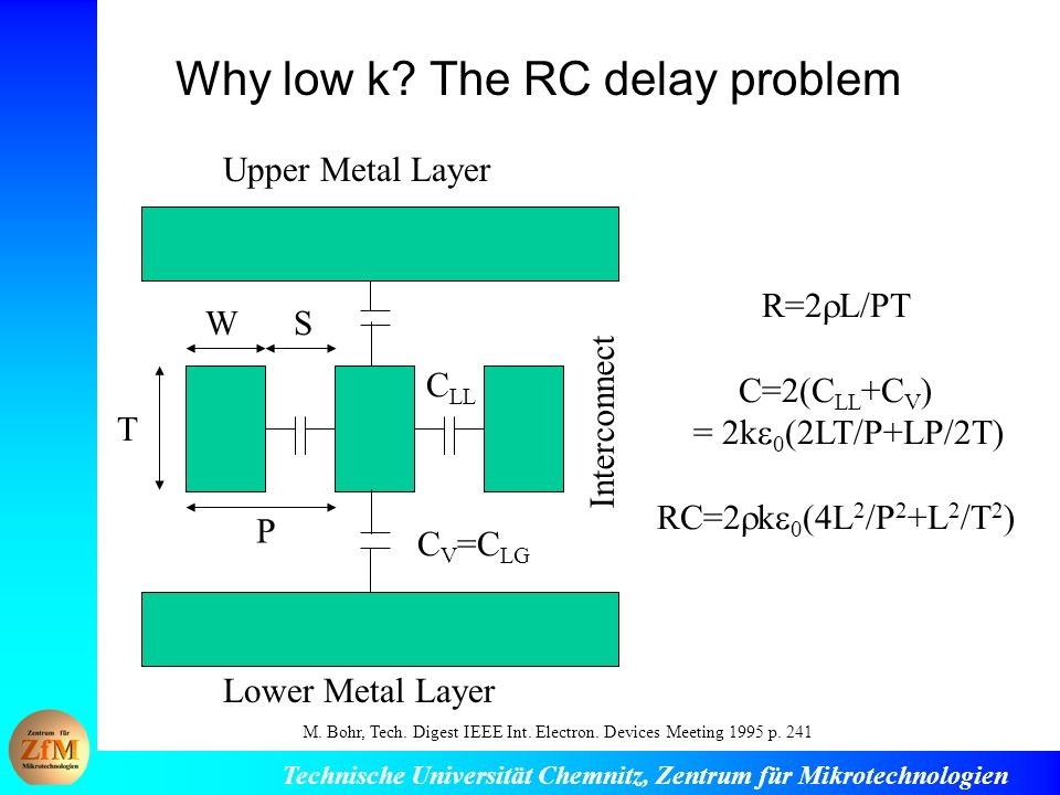 Why low k The RC delay problem