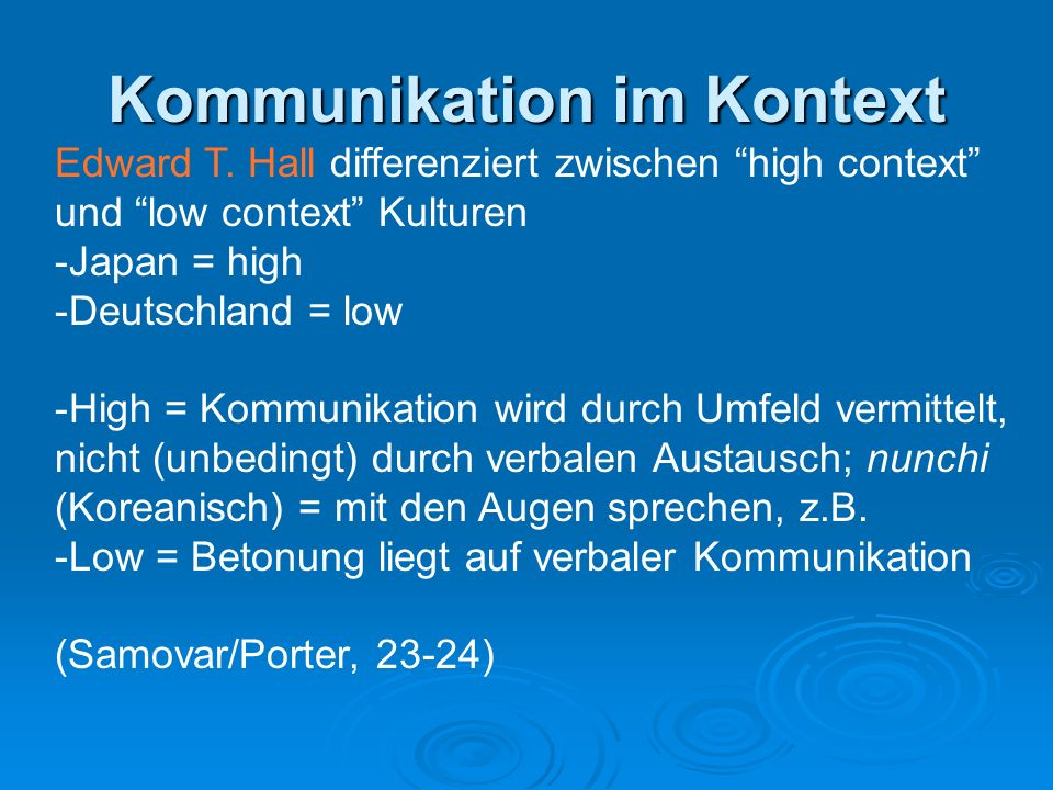 Kommunikation im Kontext