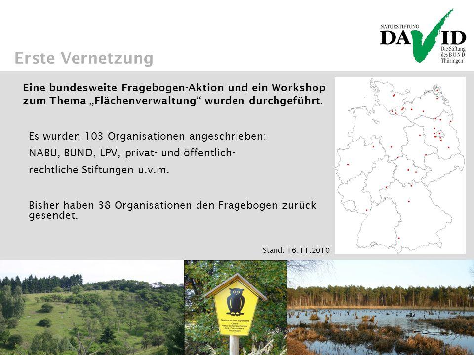 """Erste Vernetzung Eine bundesweite Fragebogen-Aktion und ein Workshop zum Thema """"Flächenverwaltung wurden durchgeführt."""