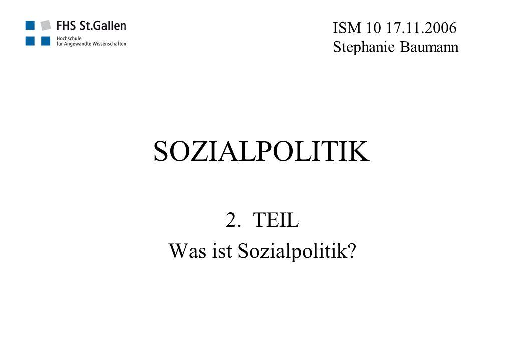 2. TEIL Was ist Sozialpolitik