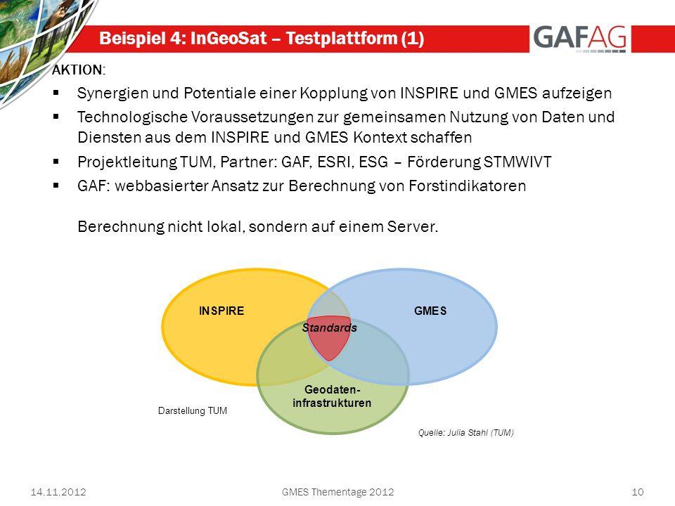 Beispiel 4: InGeoSat – Testplattform (1)