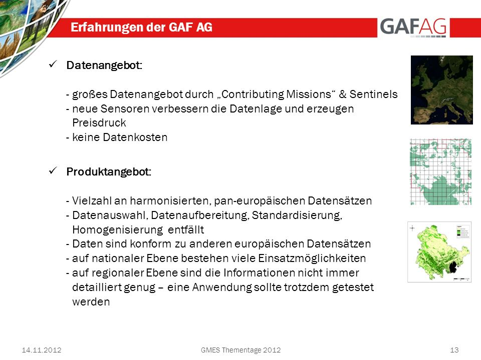 Erfahrungen der GAF AG