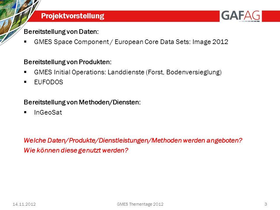 Projektvorstellung Bereitstellung von Daten: