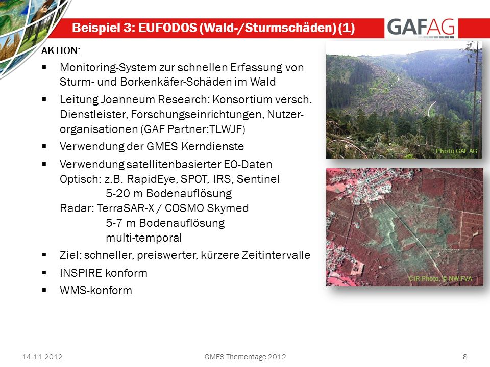 Beispiel 3: EUFODOS (Wald-/Sturmschäden) (1)