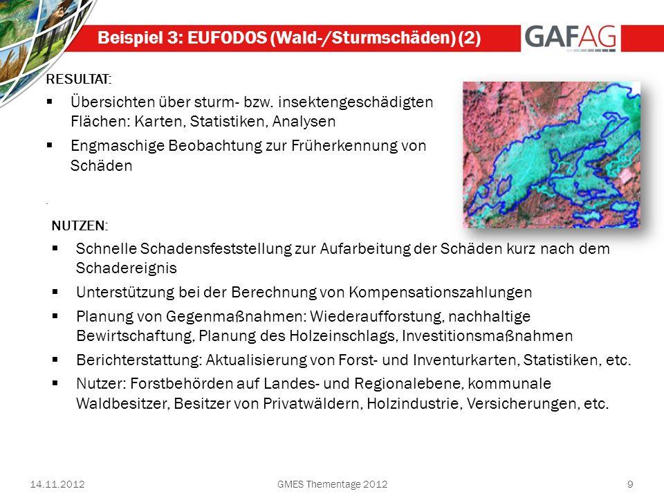 Beispiel 3: EUFODOS (Wald-/Sturmschäden) (2)