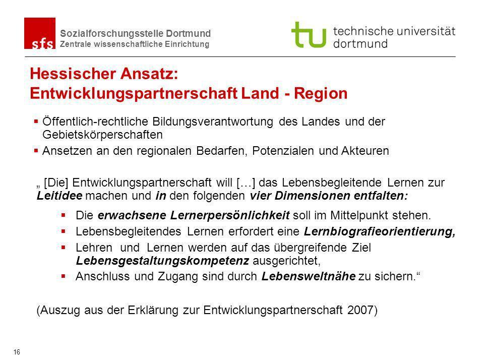 Hessischer Ansatz: Entwicklungspartnerschaft Land - Region