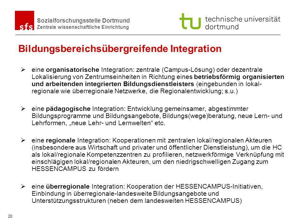 Bildungsbereichsübergreifende Integration
