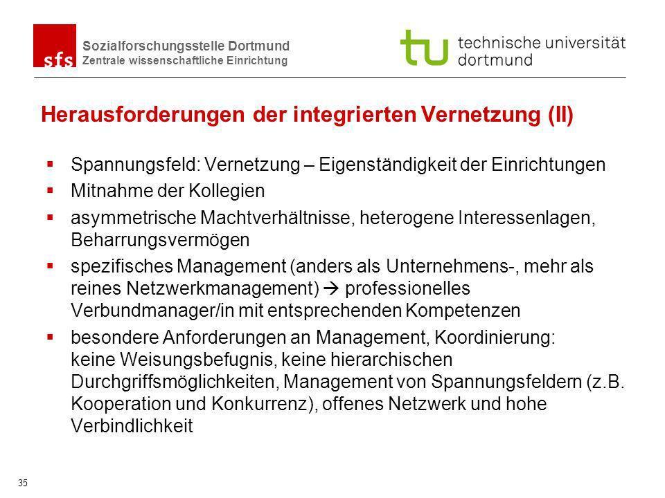 Herausforderungen der integrierten Vernetzung (II)