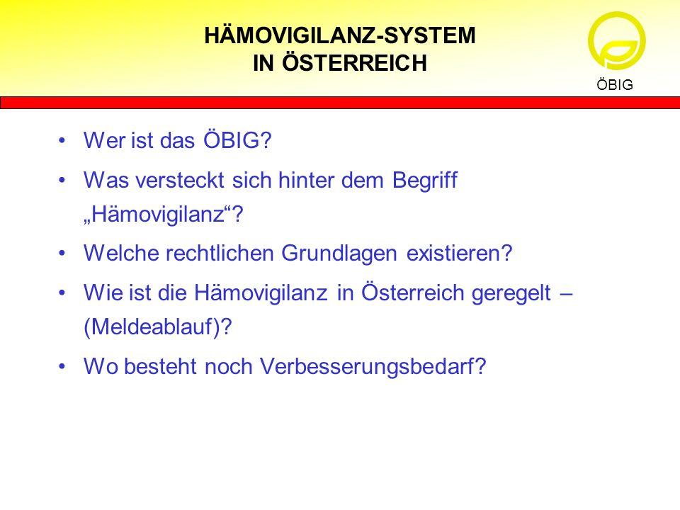 HÄMOVIGILANZ-SYSTEM IN ÖSTERREICH