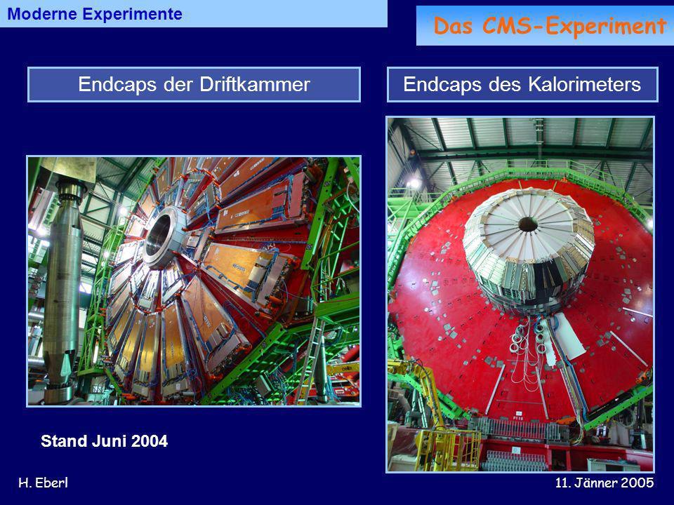 Das CMS-Experiment Endcaps der Driftkammer Endcaps des Kalorimeters
