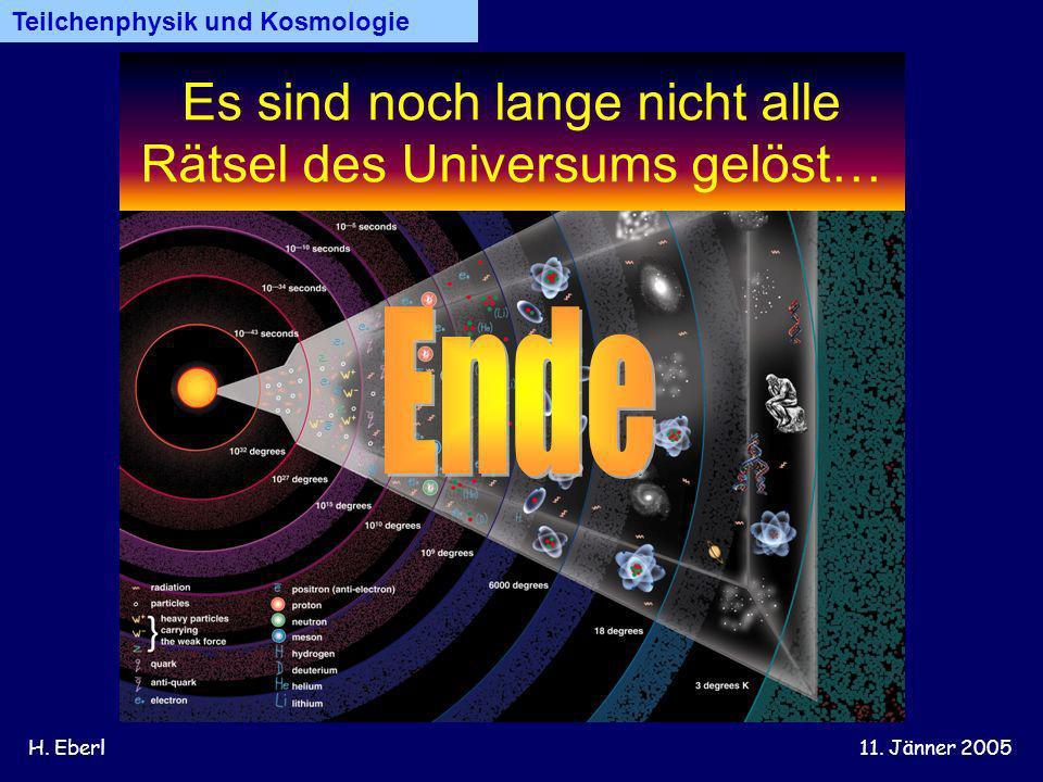 Es sind noch lange nicht alle Rätsel des Universums gelöst…