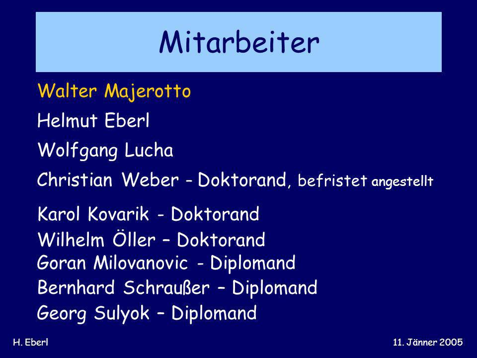 Mitarbeiter Walter Majerotto Helmut Eberl Wolfgang Lucha