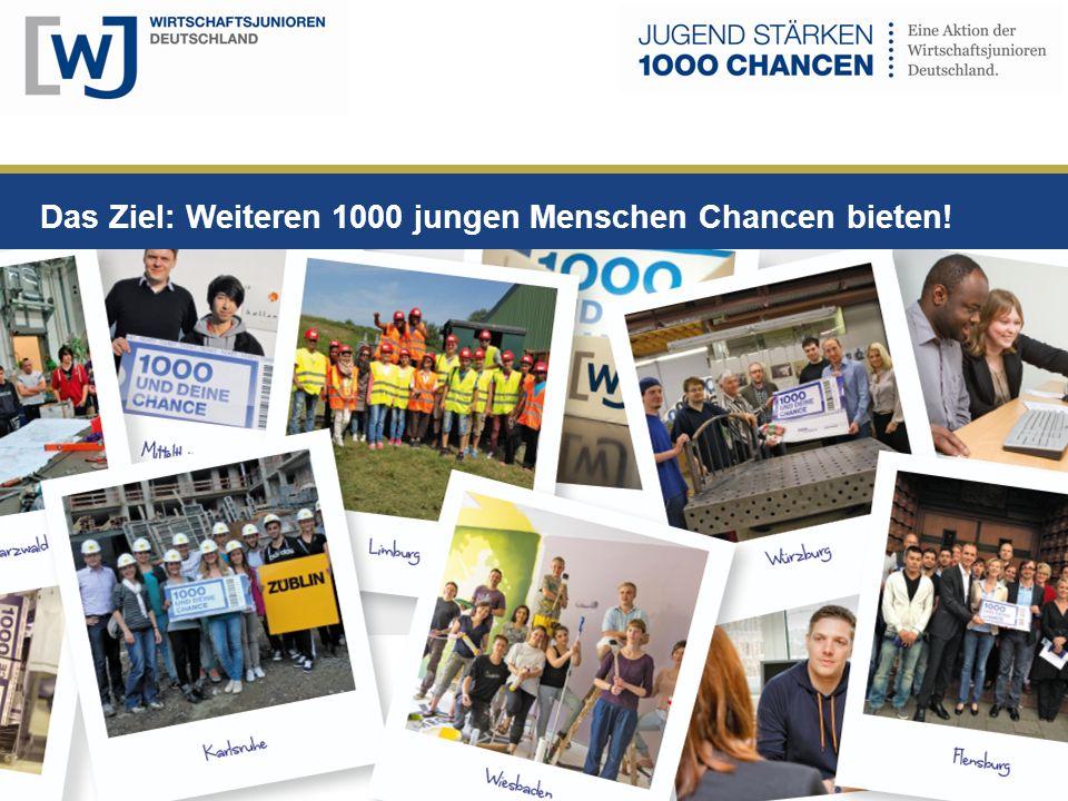 Das Ziel: Weiteren 1000 jungen Menschen Chancen bieten!