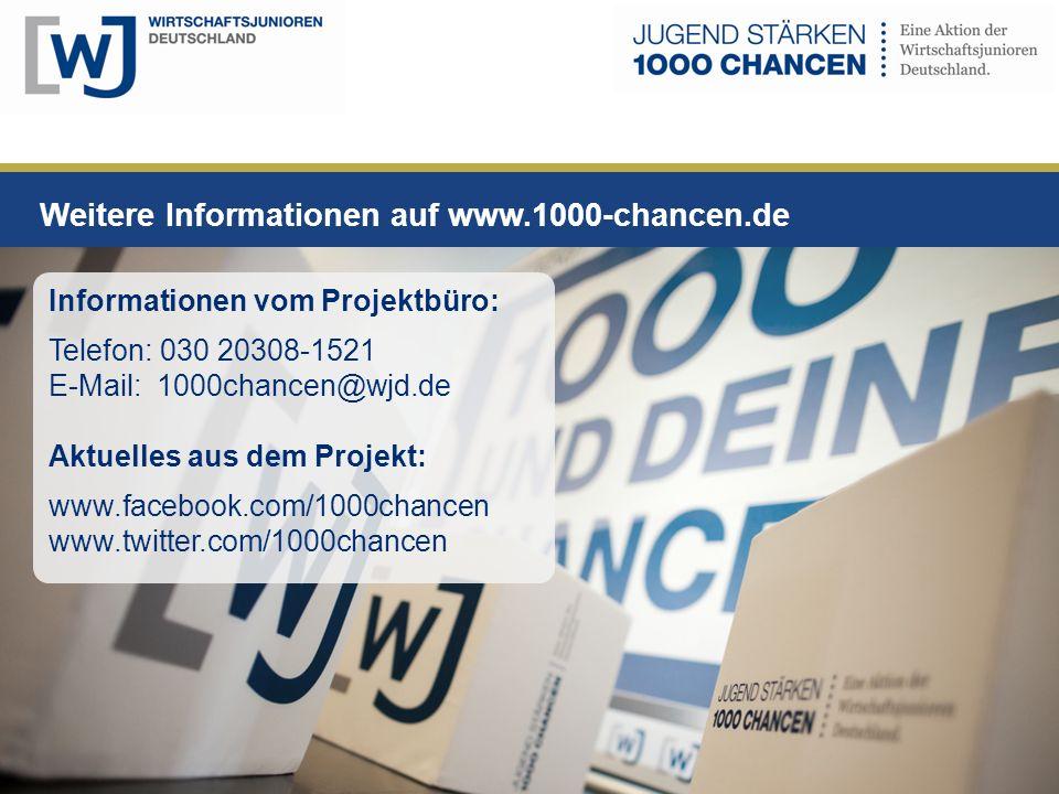 Weitere Informationen auf www.1000-chancen.de