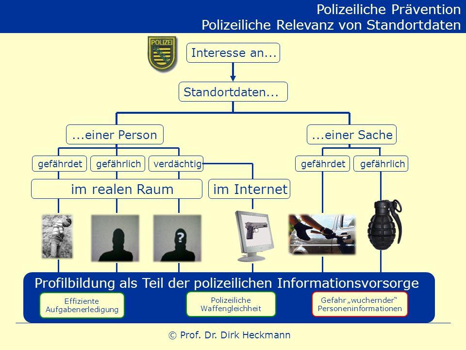 Polizeiliche Prävention Polizeiliche Relevanz von Standortdaten