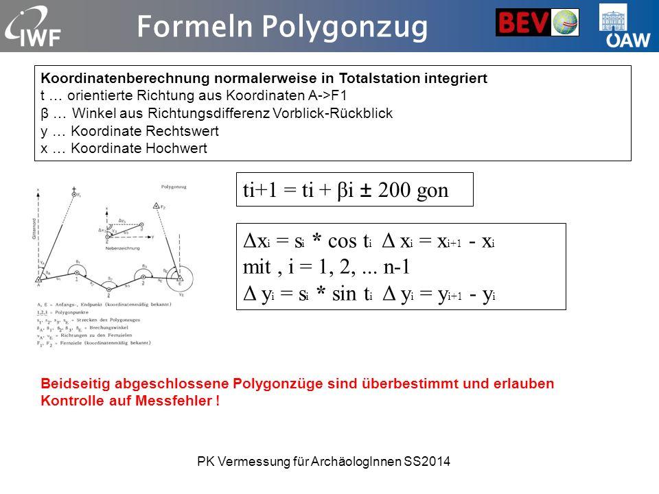 PK Vermessung für ArchäologInnen SS2014