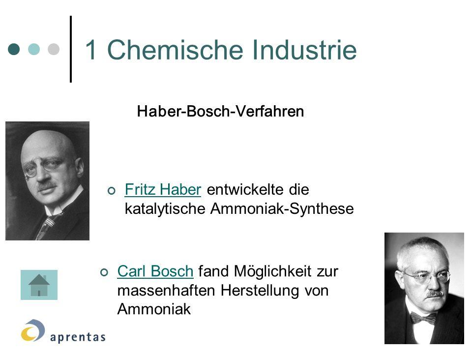 1 Chemische Industrie Haber-Bosch-Verfahren