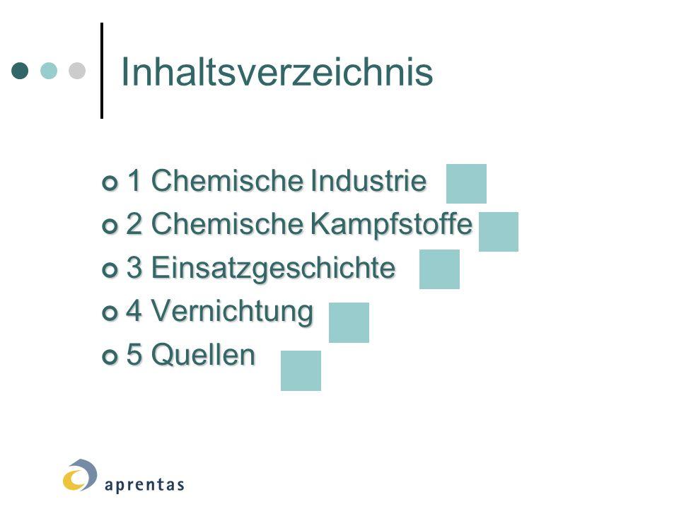 Inhaltsverzeichnis 1 Chemische Industrie 2 Chemische Kampfstoffe