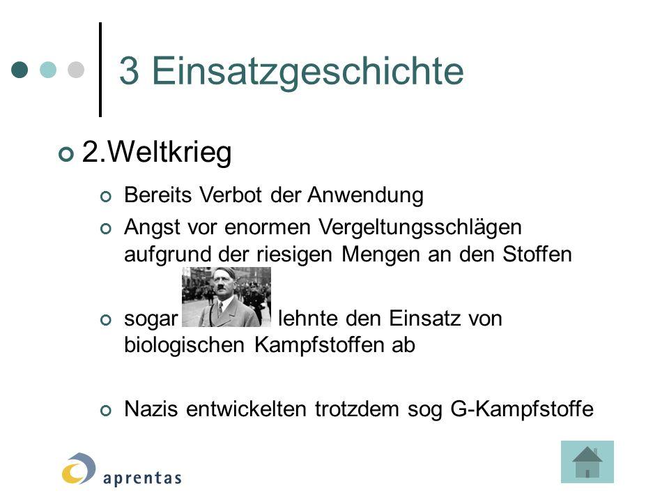 3 Einsatzgeschichte 2.Weltkrieg Bereits Verbot der Anwendung
