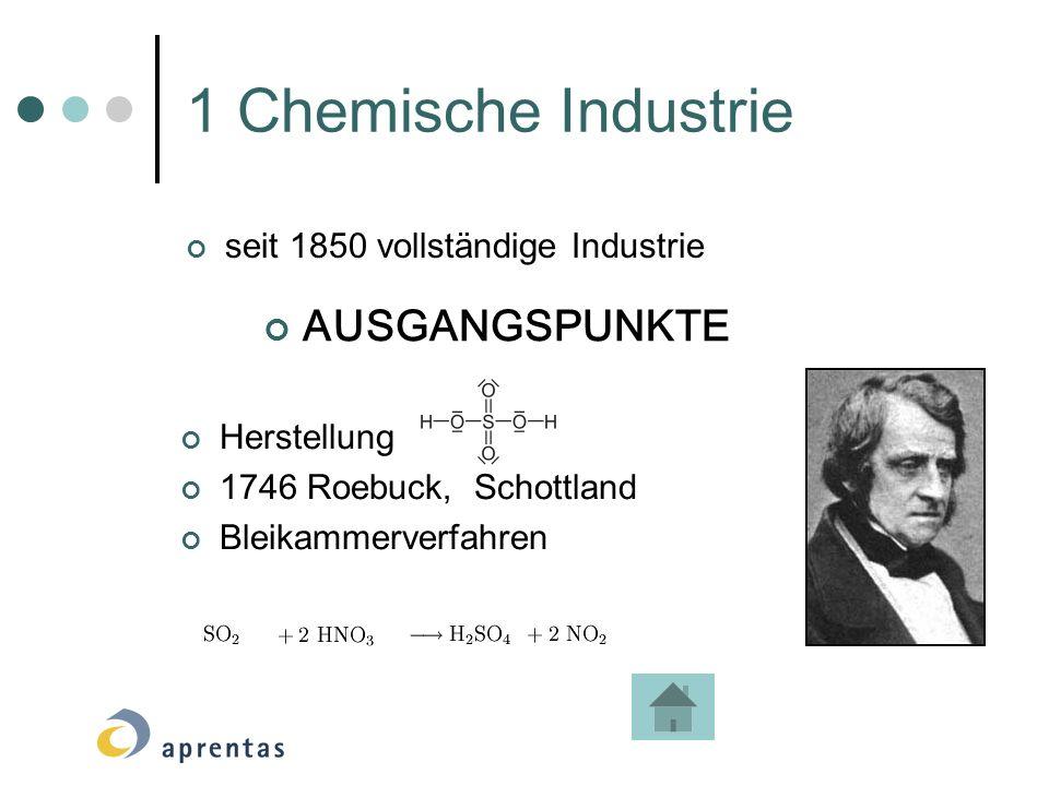 1 Chemische Industrie AUSGANGSPUNKTE seit 1850 vollständige Industrie