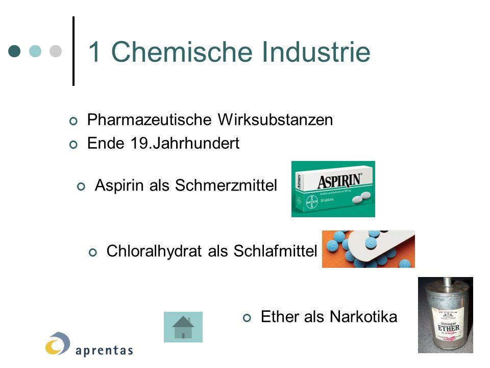 1 Chemische Industrie Pharmazeutische Wirksubstanzen