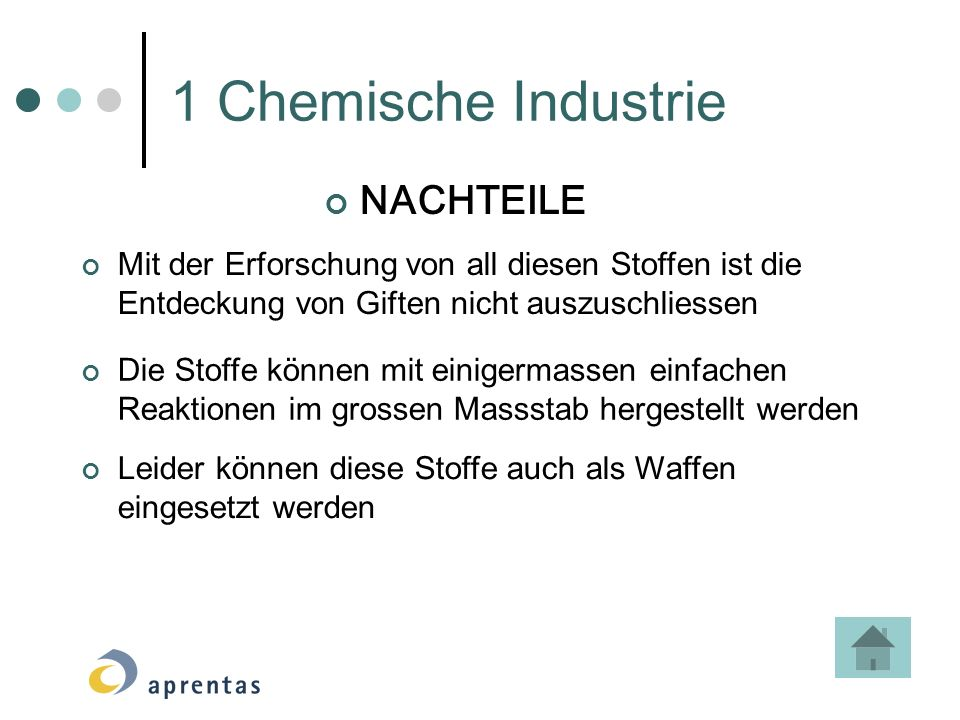 1 Chemische Industrie NACHTEILE