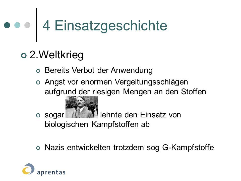 4 Einsatzgeschichte 2.Weltkrieg Bereits Verbot der Anwendung