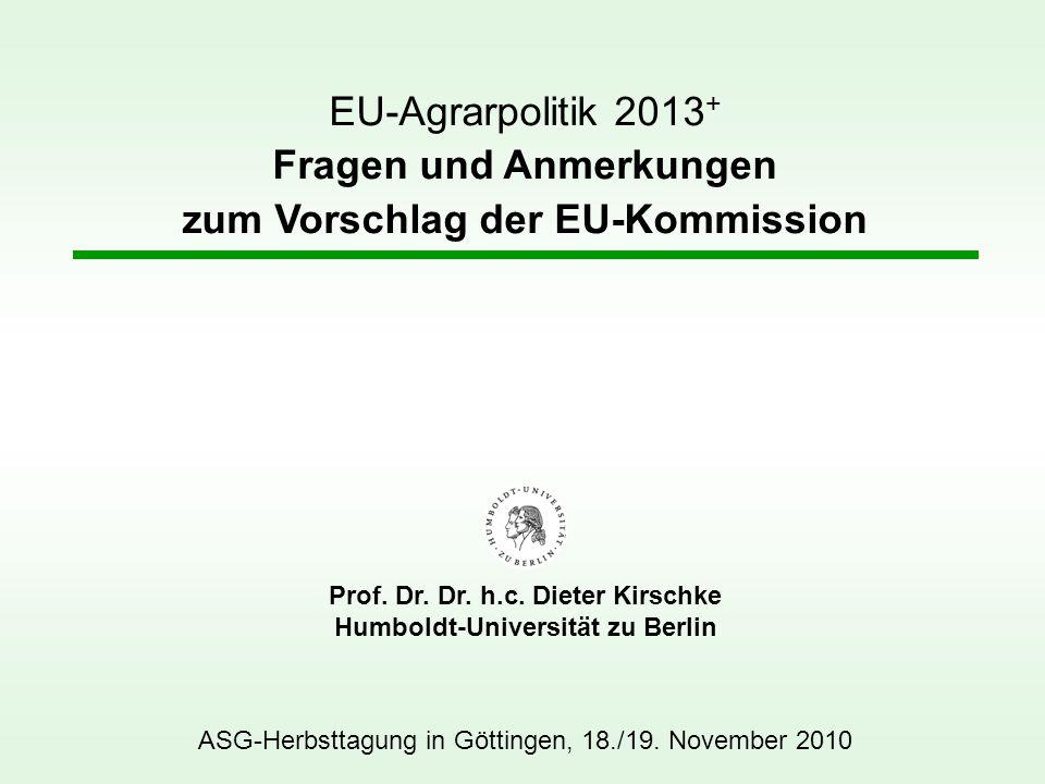 Prof. Dr. Dr. h.c. Dieter Kirschke Humboldt-Universität zu Berlin